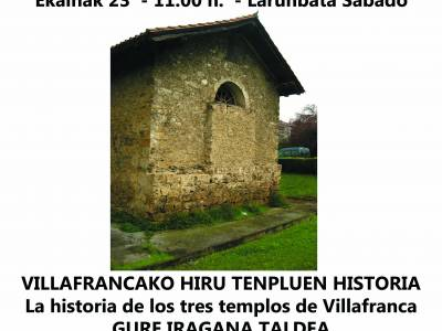 VILLAFRANCAKO 3 TENPLUEN HISTORIA - BISITA GIDATUA