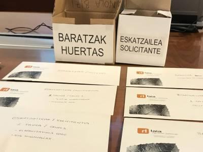 BARATZA PARKEAREN ESLEITUEN ZERRENDAK PREST DAUDE