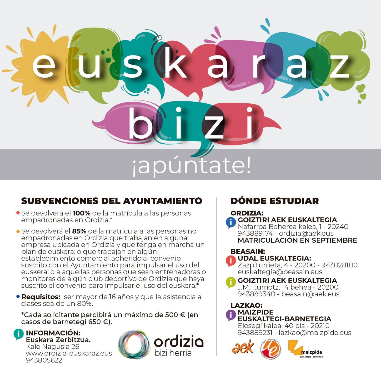 CAS1 Euskara laguntzak