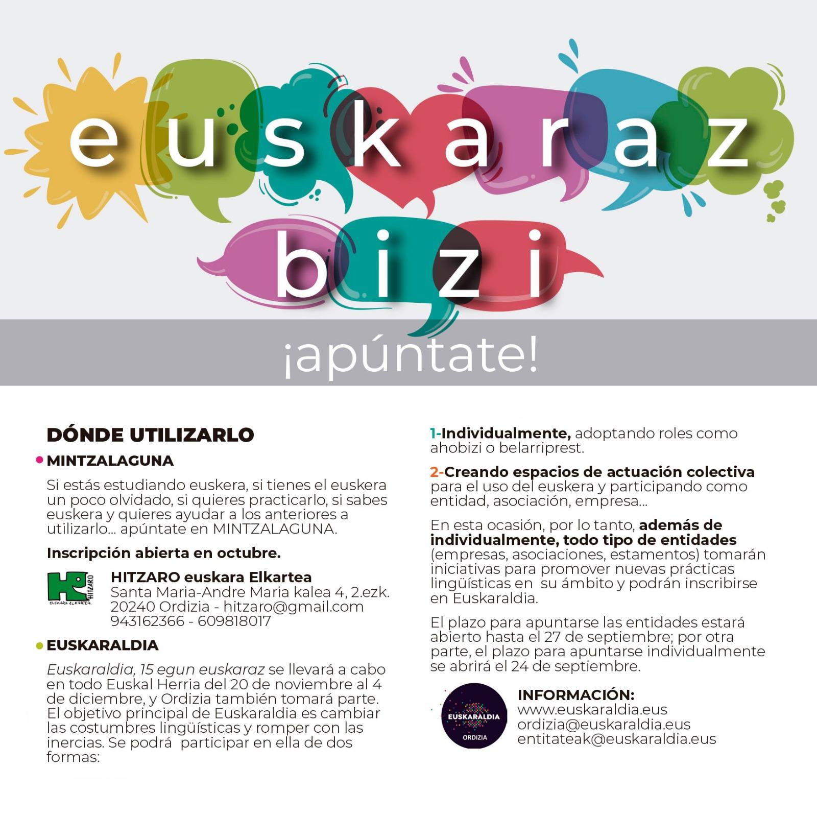 CAS Euskara laguntzak