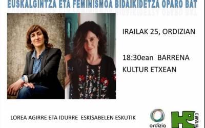 Feminismo eta euskalgintza hizpide ostiralean
