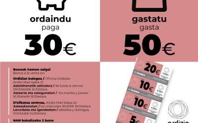 Ordaindu 30 euro eta gastatu 50