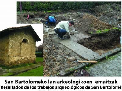 OSTIRALEAN SOLASALDIA BARRENAN, SAN BARTOLOME ERMITAKO LAN ARKEOLOGIKOEN LEHENGO EMAITZAK