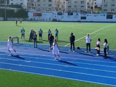 Buen estreno de la nueva pista de atletismo Altamira