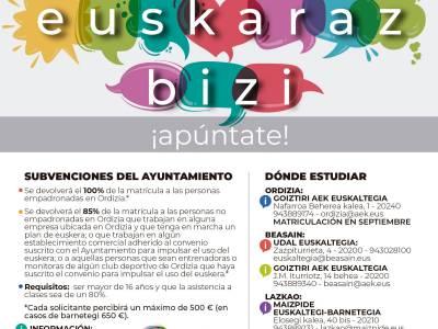 Cursos subvencionados para aprender euskara