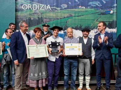 El queso de Kortaria vuelve a vencer en Ordizia