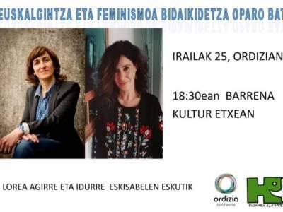 El feminismo y la actividad cultural vasca, este viernes