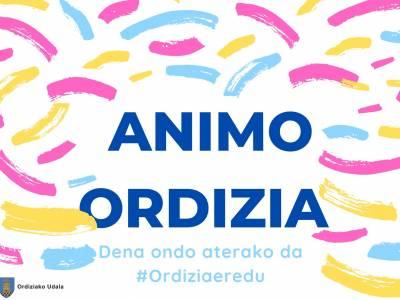 Gaurko gaia: Animo Ordizia!