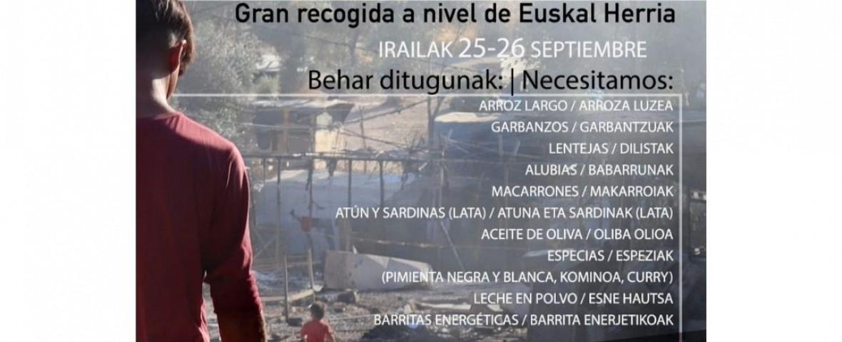 Recogida de alimentos para las y los refugiados de Moria, mañana